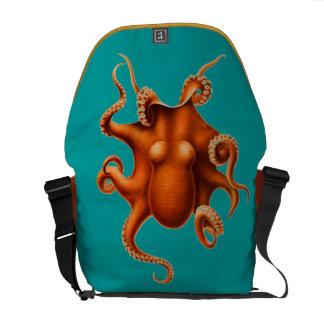 Octopus - Orange Courier Bag
