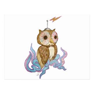 Octopus Owl Robot Postcard