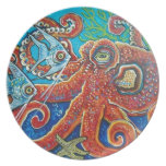 octopus party plate