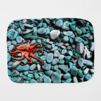Octopus Pebbles Burp Cloth
