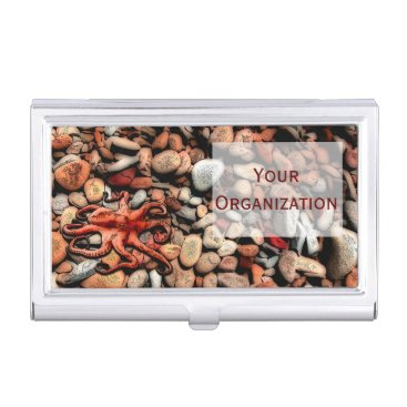 Professional Business Octopus Pebbles Business Card Holder