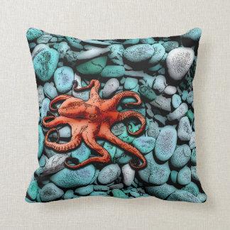 Octopus Pebbles Throw Pillow