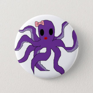 Octopus Pinback Button