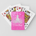 "Octopus Pink Sea Glass Personalize Playing Cards<br><div class=""desc"">Octopus Pink Sea Glass Personalize</div>"