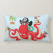 octopus pirate lumbar pillow