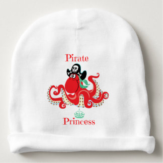 Octopus Pirate Princess Baby Cotton Beanie