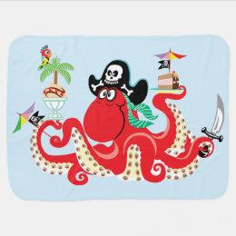 octopus pirate receiving blanket