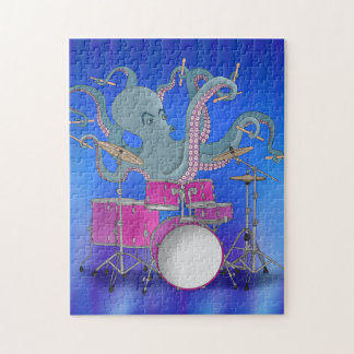 Octopus Playing Drums - Puzzle