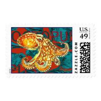 Octopus Postage Stamp