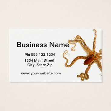 Beach Themed Octopus Print No.3 Cephalopod Sea Creature Art Business Card