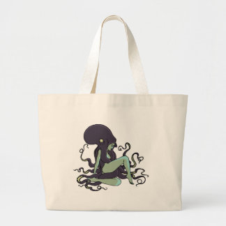 Octopus Queen Large Tote Bag