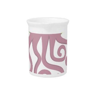 Octopus Quote Design Beverage Pitchers