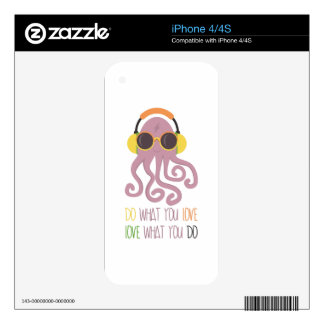 Octopus Quote Design Decals For iPhone 4
