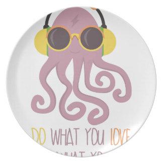 Octopus Quote Design Dinner Plate