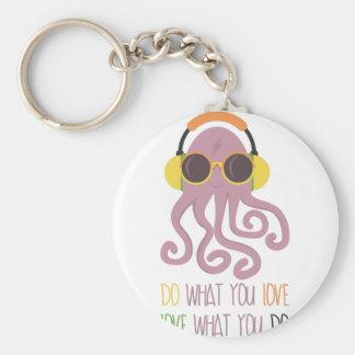 Octopus Quote Design Keychain