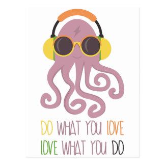 Octopus Quote Design Postcard
