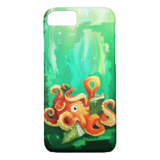 Octopus Reading iPhone 7 case