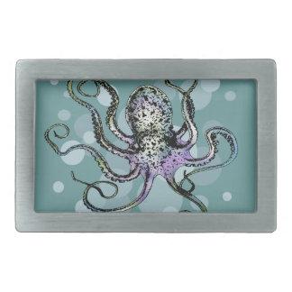 Octopus Rectangular Belt Buckle