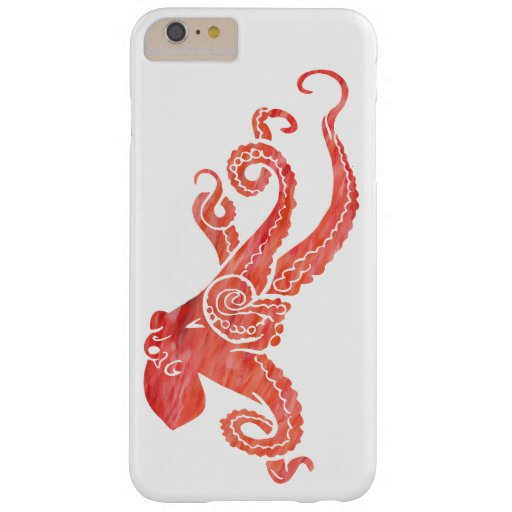 Octopus Red Barely There iPhone 6 Plus Case