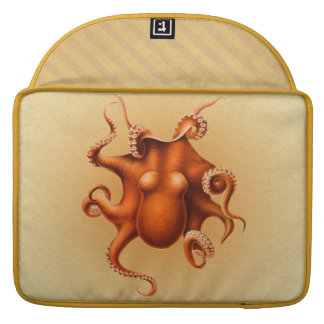 Octopus Red Cephalopod Vintage Design Sleeves For MacBooks