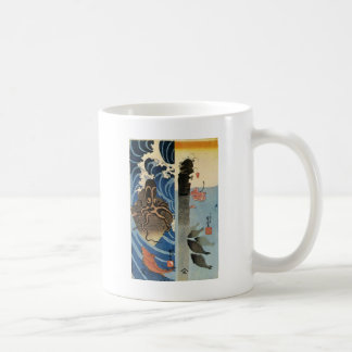 Octopus, Red Fish by Utagawa Kuniyoshi Coffee Mug
