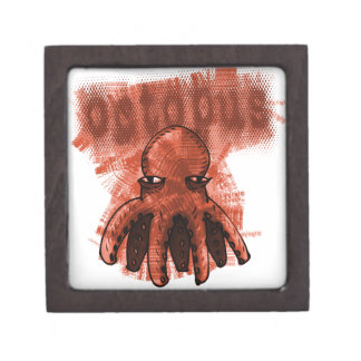 octopus red jewelry box