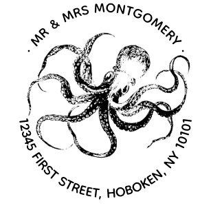 Octopus Return Address Stamp