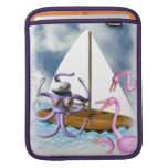 Octopus sails ipad laptop sleeve for iPads