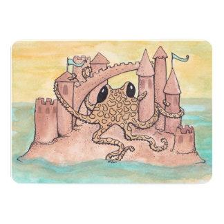 Octopus & Sandcastle Birthday Invitation