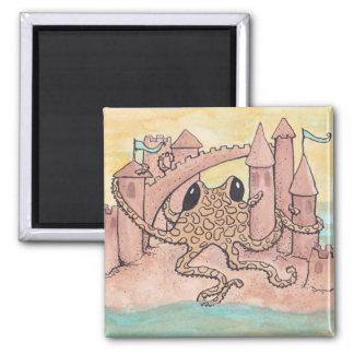 Octopus & Sandcastle Magnet