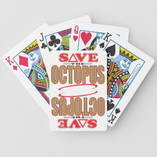 Octopus Save Bicycle Playing Cards