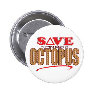 Octopus Save Pinback Button