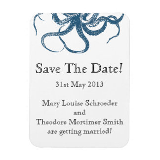Octopus Save the Date magnet 3x4