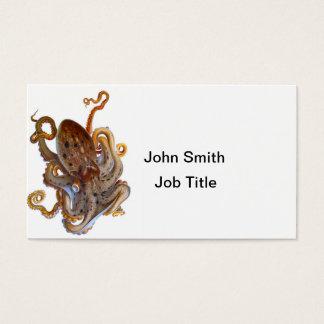 Octopus Sea Creature Cephalopod Business Card