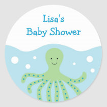 Octopus Sea Creature Ocean Envelope Seals Stickers