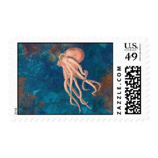 octopus sea postage