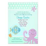 Octopus Sealife Ocean 5x7 Baby Shower Invitation