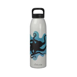 Octopus silhouette drinking bottle