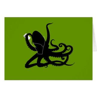 Octopus Sillouette MP3 Adverisement Spoof Card