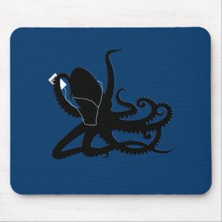 Octopus Sillouette MP3 Adverisement Spoof Mouse Pad