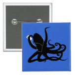 Octopus Sillouette MP3 Adverisement Spoof Pins