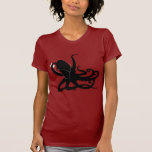 Octopus Sillouette Spoof T-shirt