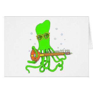 Octopus Sitar Card