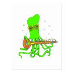 Octopus Sitar Postcard