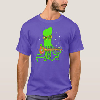 Octopus Sitar T Shirt