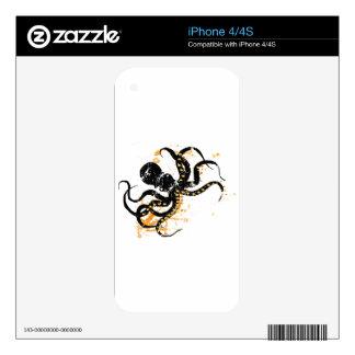 Octopus iPhone 4S Skins