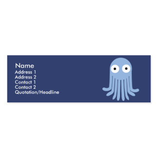 Octopus - Skinny Double-Sided Mini Business Cards (Pack Of 20)