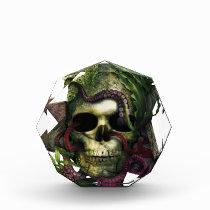 Octopus Skull Grunge Award
