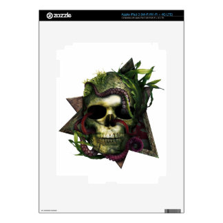 Octopus Skull Grunge Skin For iPad 3