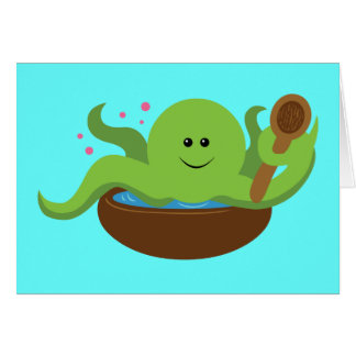 Octopus Soup Greeting Card
